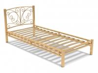 Кровать 90 Фантазия-1 металлическая Крем