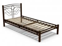 Кровать 90 Фантазия-2 металлическая Венге