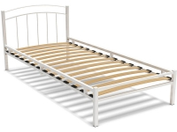 Кровать 90 Юнга-2 металлическая Белый глянец
