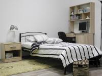 Кровать 90 Юнга-2 металлическая Венге