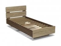 Кровать Жанна 90 с основанием Винтаж - Дуб сонома