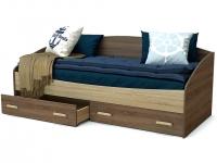 Кровать Максимка с ящиками Винтаж - Дуб сонома