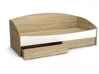 Кровать Максимка с ящиками Дуб сонома - Белый