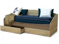 Кровать Максимка с ящиками Дуб сонома - Винтаж