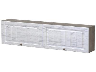 Полка Калипсо с дверями Клабхаус серый - МДФ Альберо браш грей