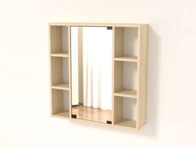 Полка с зеркалом 68 Дуб млечный