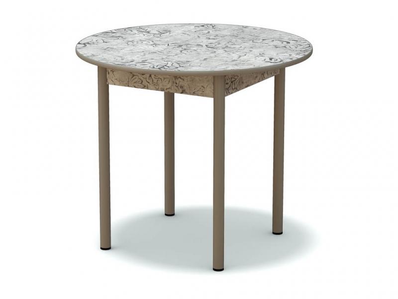 Стол обеденный круглый Алладин серый - ноги серые