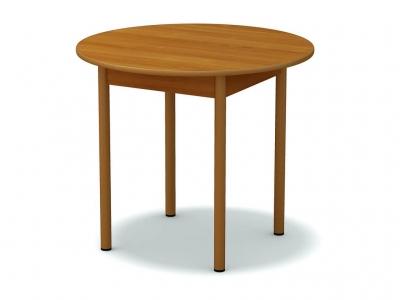 Стол обеденный круглый Вишня - ноги крем