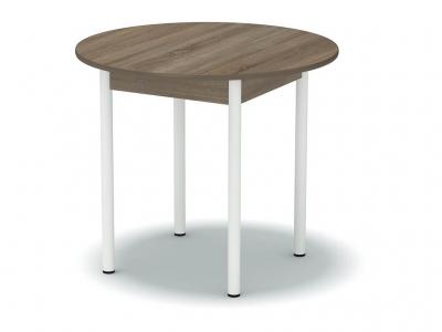Стол обеденный круглый Винтаж - ноги белые
