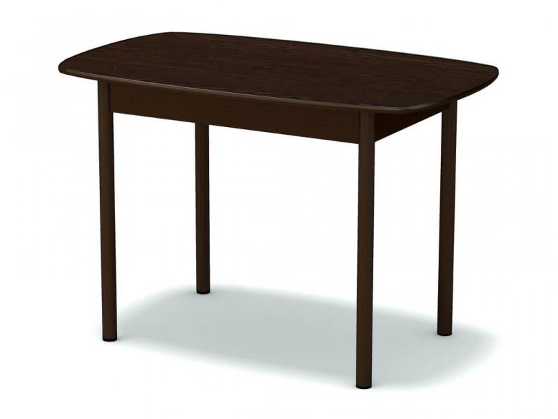 Стол обеденный овальный Венге - ноги коричневые