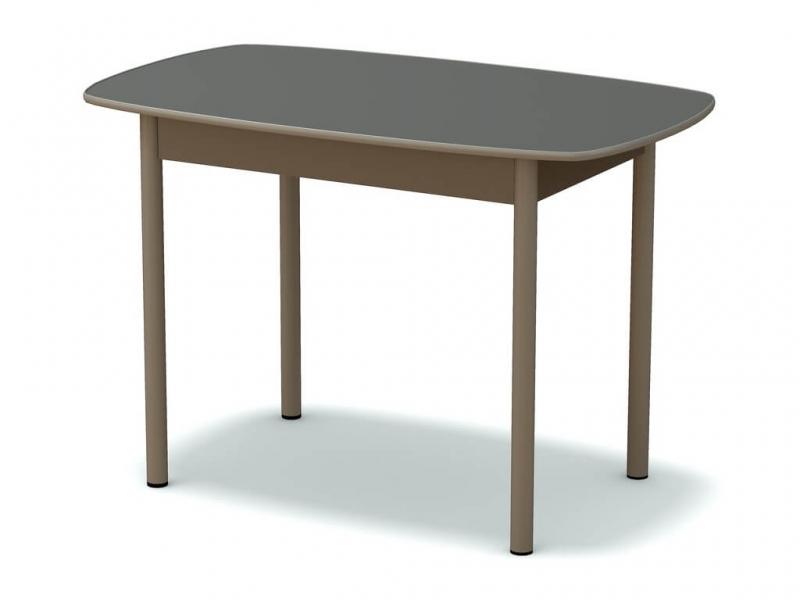 Стол обеденный овальный Платина - ноги серые