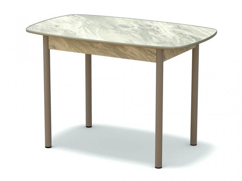 Стол обеденный овальный Статуарио - ноги серые