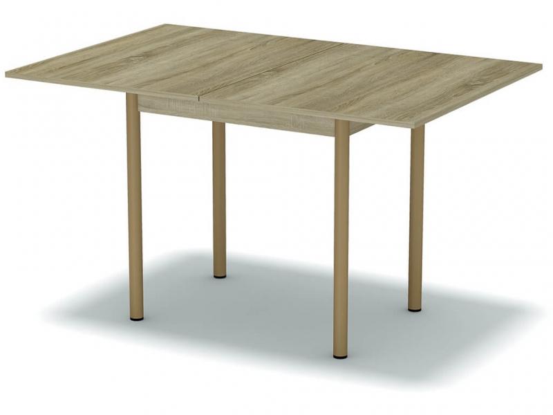 Стол обеденный раскладной Дуб сонома - ноги коричневые