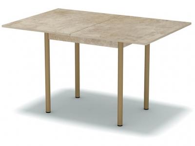 Стол обеденный раскладной Светлый камень - ноги бежевые