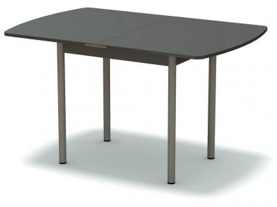 Стол обеденный раскладной закругленный Платина