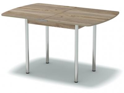 Стол обеденный раскладной закругленный Невис - ноги хром