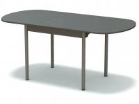 Стол раздвижной закругленный Платина - ноги серые