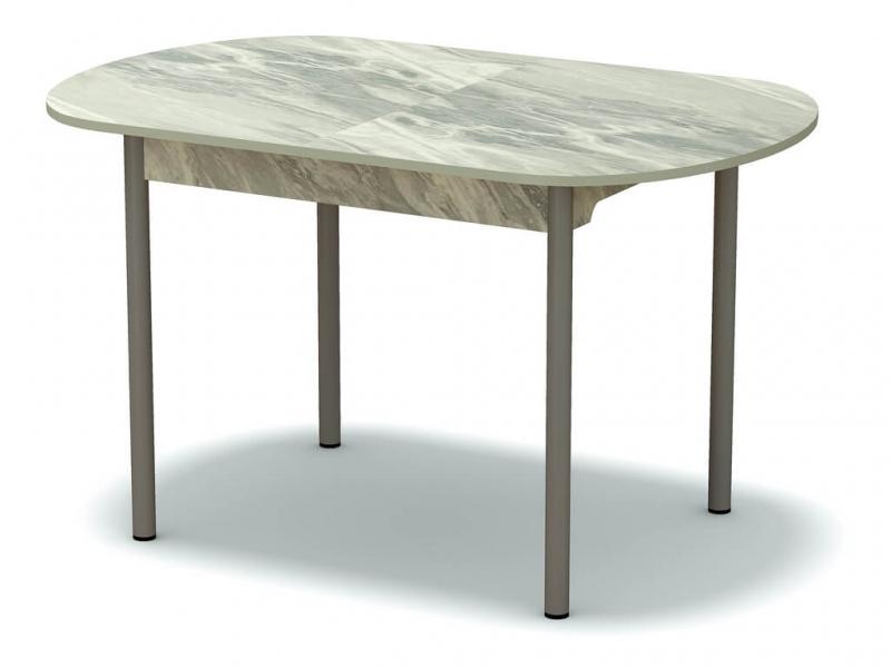 Стол раздвижной закругленный Статуарио - ноги серые