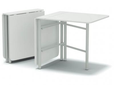 Стол-книжка-700 на металлических ногах Белый