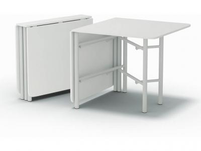 Стол-книжка-860 на металлических ногах Белый