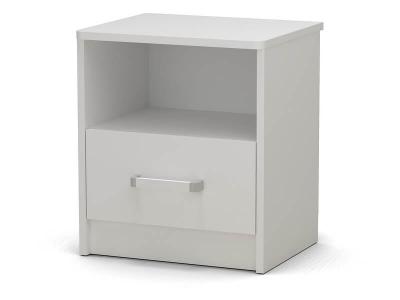 Тумба прикроватная Эксон с ящиком Белый