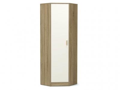 Шкаф угловой-2 Модуль без зеркала Дуб сонома - Белый