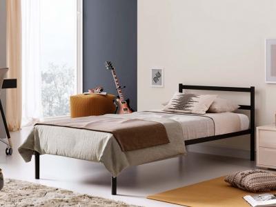 Кровать разборная металлическая с ортопедическим основанием Мета 900 черная