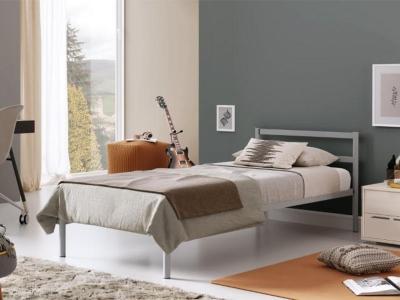 Кровать разборная металлическая с ортопедическим основанием Мета 900 серая