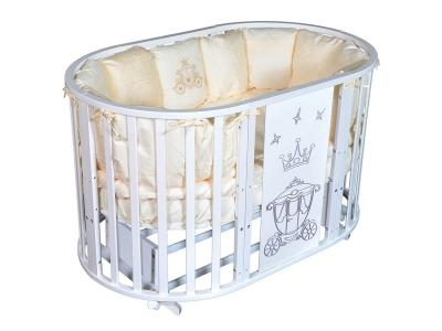 Детская кровать Sofia-2 Сrown 6 в1 белый