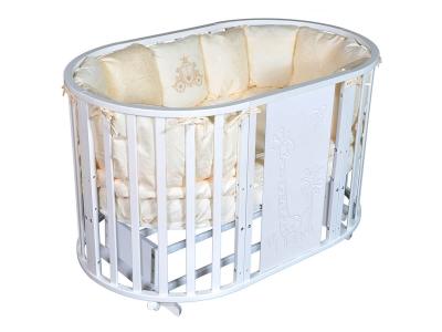 Детская кровать Sofia-2 Giraffe 6 в1 белый