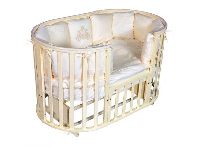 Детская кровать Sofia-4 6 в1 ПВХ слоновая кость