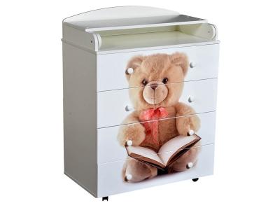 Комод детский с пеленальной доской Victoria 804 МДФ Teddy белый